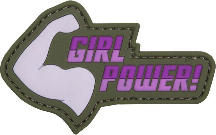 3D PVC Nášivka/Patch Girl Power! - ružová, (444130-5280)