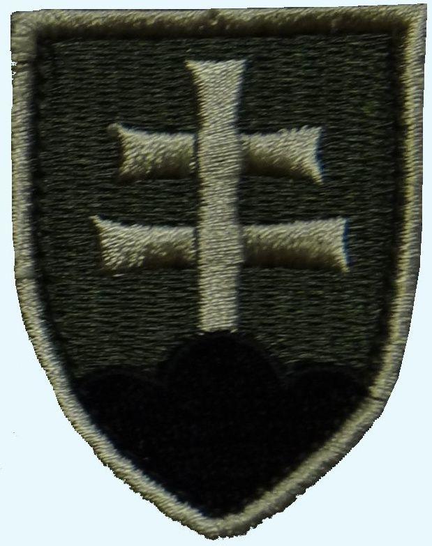 Textilná Nášivka/Patch SK znak, olivová