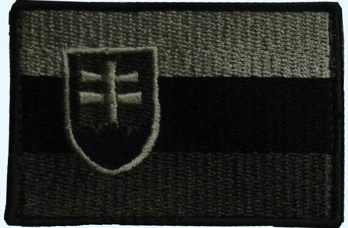 Textilná Nášivka/Patch SK vlajka, olivová