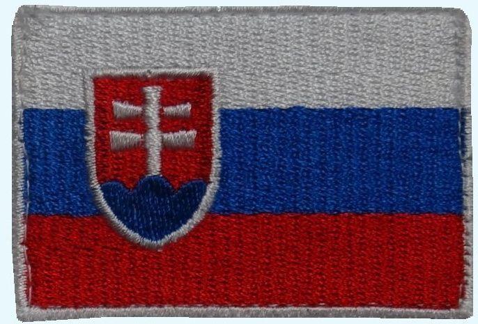 Textilná Nášivka/Patch SK vlajka, farebná