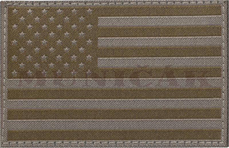 CLAW GEAR Textilná Nášivka/Patch USA FLAG - RAL7013, (20991)