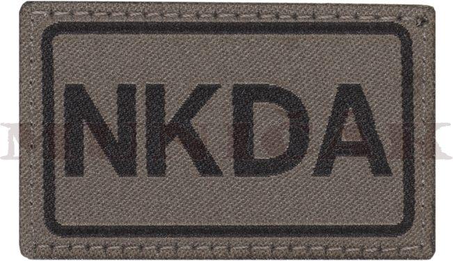 CLAW GEAR Textilná Nášivka/Patch NKDA - RAL7013, (18430)