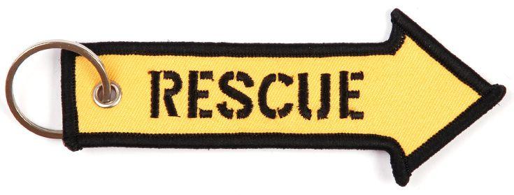 Kľúčenka Rescue, šípka