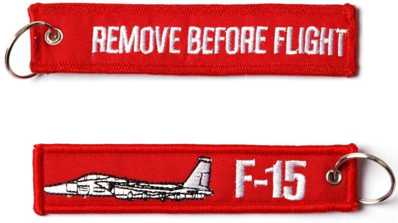 Kľúčenka Remove before flight + F-15