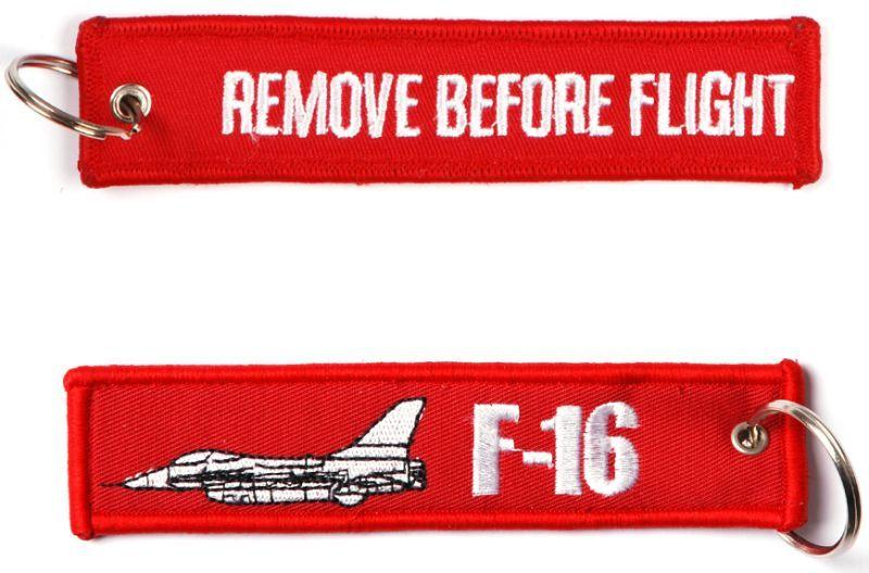 Kľúčenka Remove before flight + F-16