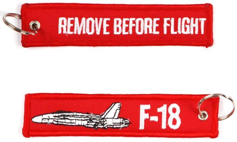 Kľúčenka Remove before flight + F-18