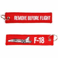 Kľúčenka Remove before flight + F-18