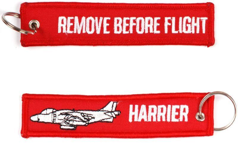 Kľúčenka Remove before flight + Harrier