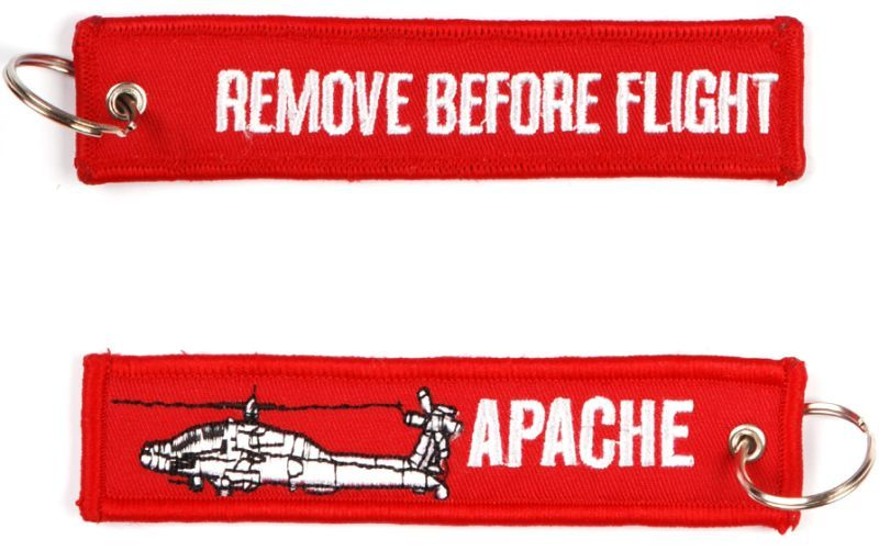 Kľúčenka Remove before flight + Apache