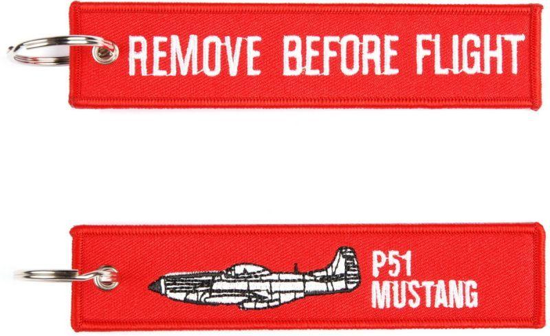 Kľúčenka Remove before flight + P51 Mustang