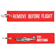 Kľúčenka Remove before flight + P51 Mustang
