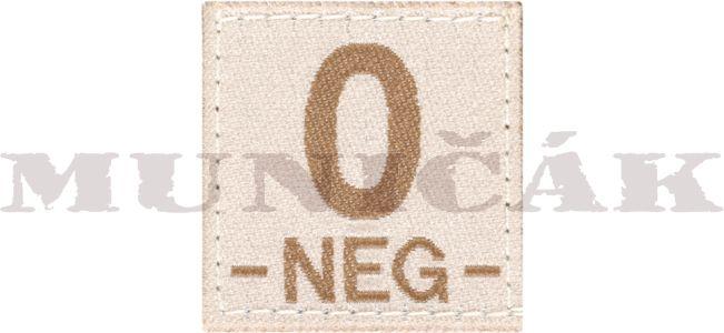 CLAW GEAR Textilná Nášivka/Patch 0 NEG - desert, (18435)