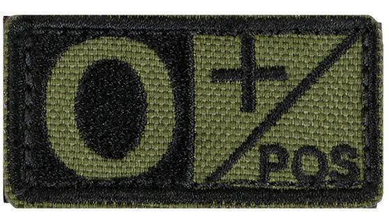 CONDOR Textilná Nášivka/Patch 0 POS, 5x2,5cm - olivová, (229O+001)
