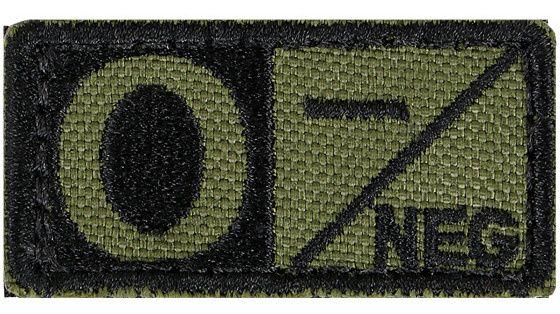 CONDOR Textilná Nášivka/Patch 0 NEG, 5x2,5cm - olivová, (229O-001)
