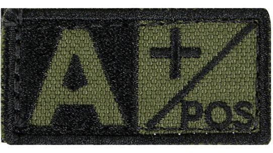 CONDOR Textilná Nášivka/Patch A POS, 5x2,5cm - olivová, (229A+001)