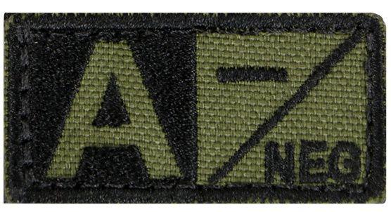 CONDOR Textilná Nášivka/Patch A NEG, 5x2,5cm - olivová, (229A-001)