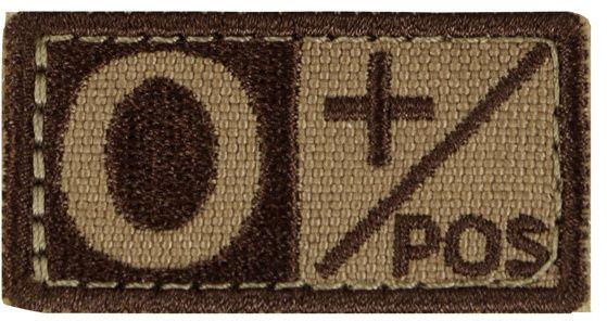 CONDOR Textilná Nášivka/Patch 0 POS, 5x2,5cm - tan, (229O+003)