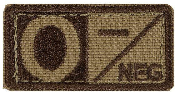 CONDOR Textilná Nášivka/Patch 0 NEG, 5x2,5cm - tan, (229O-003)