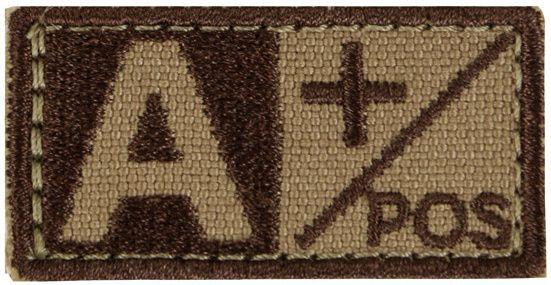 CONDOR Textilná Nášivka/Patch A POS, 5x2,5cm - tan, (229A+003)