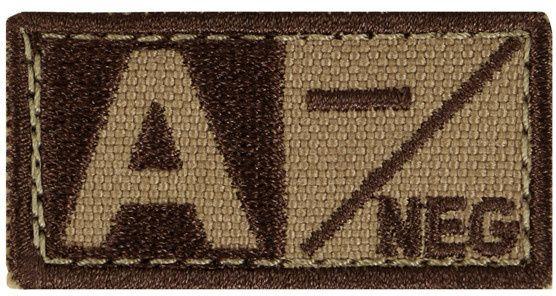 CONDOR Textilná Nášivka/Patch A NEG, 5x2,5cm - tan, (229A-003)