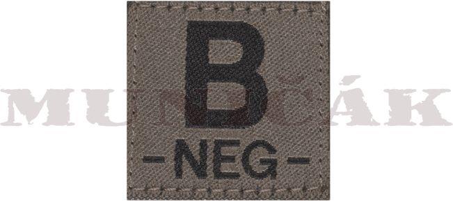 CLAW GEAR Textilná Nášivka/Patch B NEG - RAL7013 (18445)