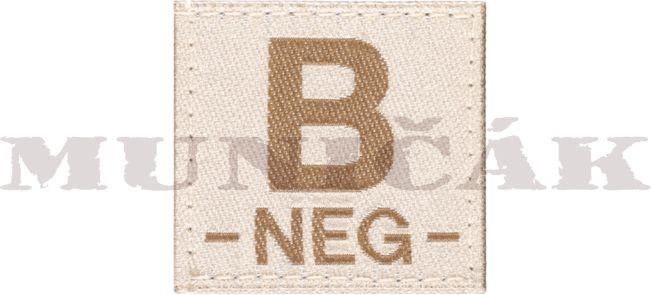 CLAW GEAR Textilná Nášivka/Patch B NEG - desert, (18437)