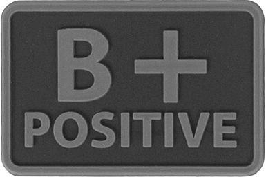 HELIKON 3D PVC Nášivka/Patch B POS - čierna, (OD-BLP-RB-01 B/Rh+)