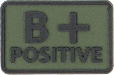 HELIKON 3D PVC Nášivka/Patch B POS - olivová, (OD-BLP-RB-02 B/Rh+)