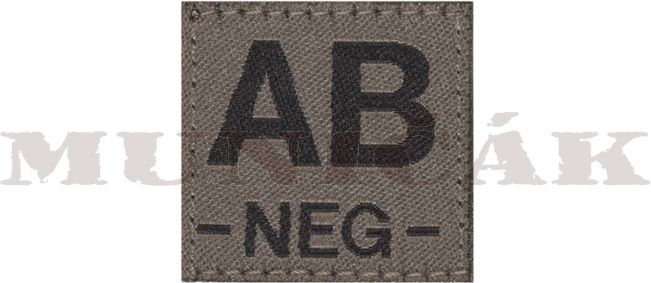 CLAW GEAR Textilná Nášivka/Patch AB NEG - RAL7013 (18446)