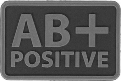 HELIKON 3D PVC Nášivka/Patch AB POS - čierna, (OD-BLP-RB-01 AB/Rh+)