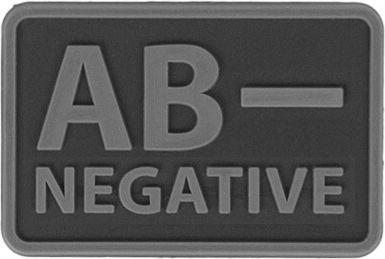 HELIKON 3D PVC Nášivka/Patch AB NEG - čierna, (OD-BLP-RB-01 AB/Rh-)