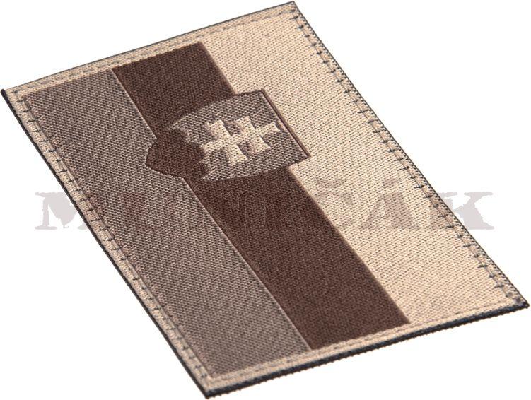 CLAW GEAR Textilná Nášivka/Patch SLOVAKIA FLAG - desert, (20984)