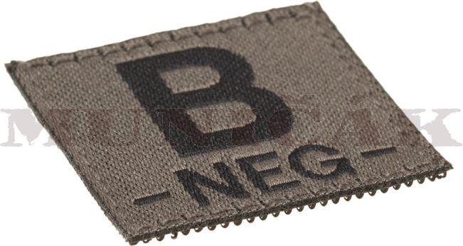 CLAW GEAR Textilná Nášivka/Patch B NEG - RAL7013, (18445)