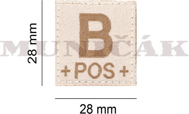 CLAW GEAR Textilná Nášivka/Patch B POS - desert, (18433)
