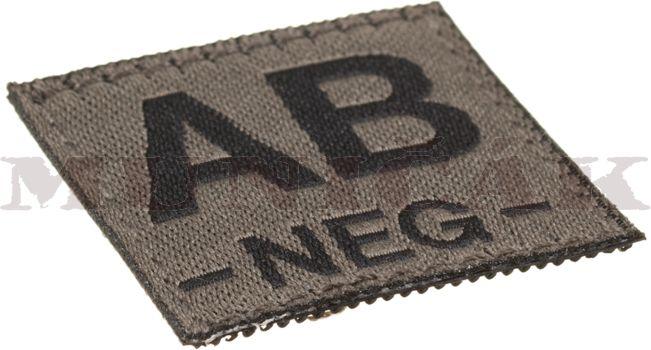 CLAW GEAR Textilná Nášivka/Patch AB NEG - RAL7013, (18446)
