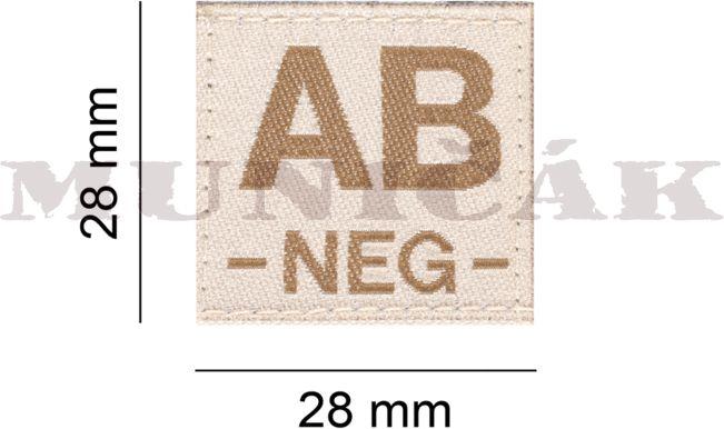 CLAW GEAR Textilná Nášivka/Patch AB NEG - desert, (18438)