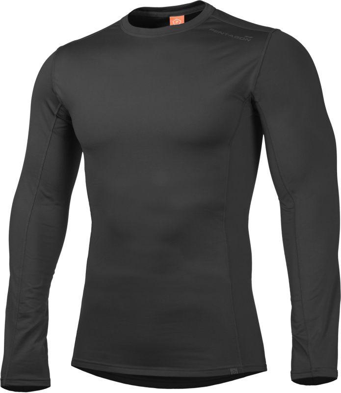 PENTAGON Funkčné tričko PINDOS 2.0, dlhý rukáv - čierne, (K11003-BLK 2.0)