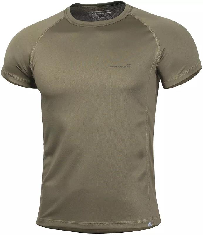 PENTAGON Funkčné tričko BODY SHOCK, krátky rukáv - olivové, (K09003-OLV)