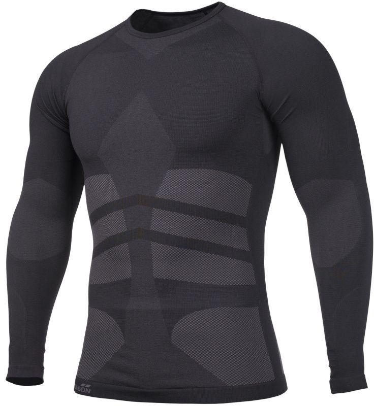 PENTAGON Funkčné tričko PLEXIS, dlhý rukáv - čierne, (K11009-BLK)