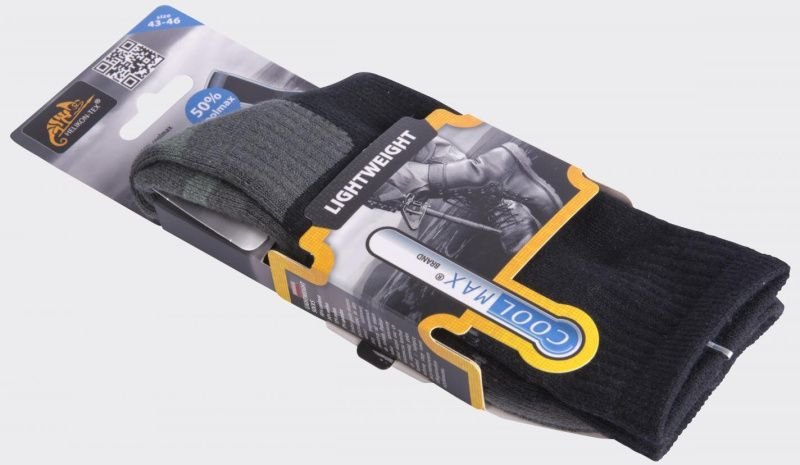 HELIKON ponožky LIGHTWEIGHT Coolmax, čierne, SK-LWT-CM-01