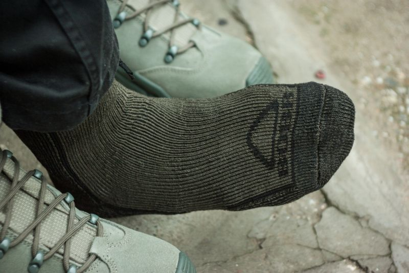 BOBR ponožky Zimné, zelené, BR1113