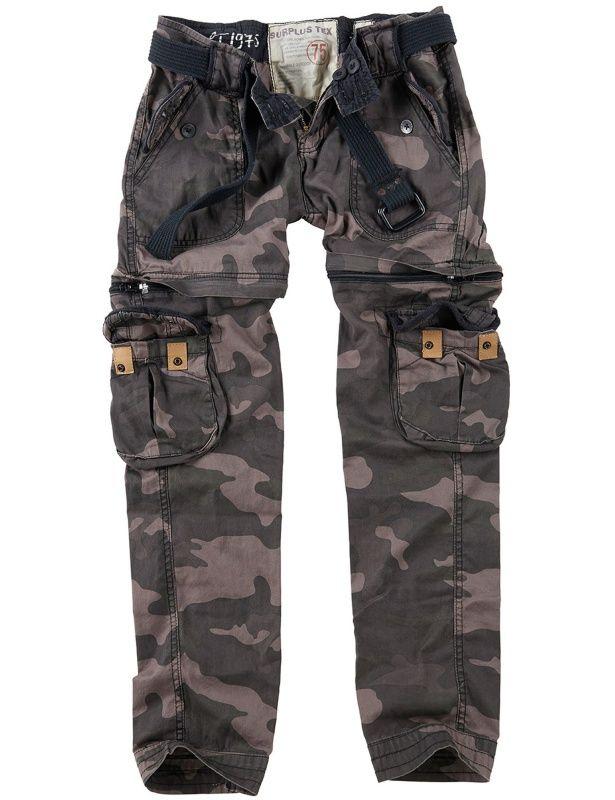 SURPLUS Dámske nohavice Premium Trekking - čierne, (33-3688-42)