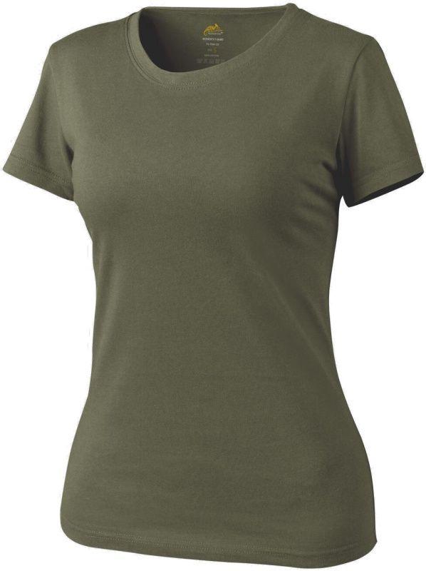 HELIKON Dámske tričko bavlna - olivové, (TS-TSW-CO-02)