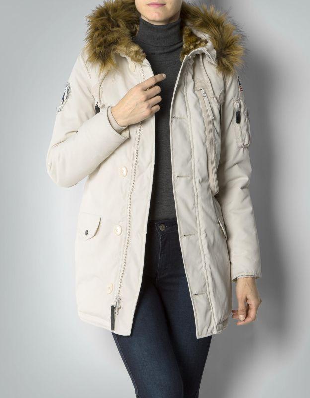 ALPHA INDUSTRIES Dámska bunda Polar Jacket, biela, 123002/16