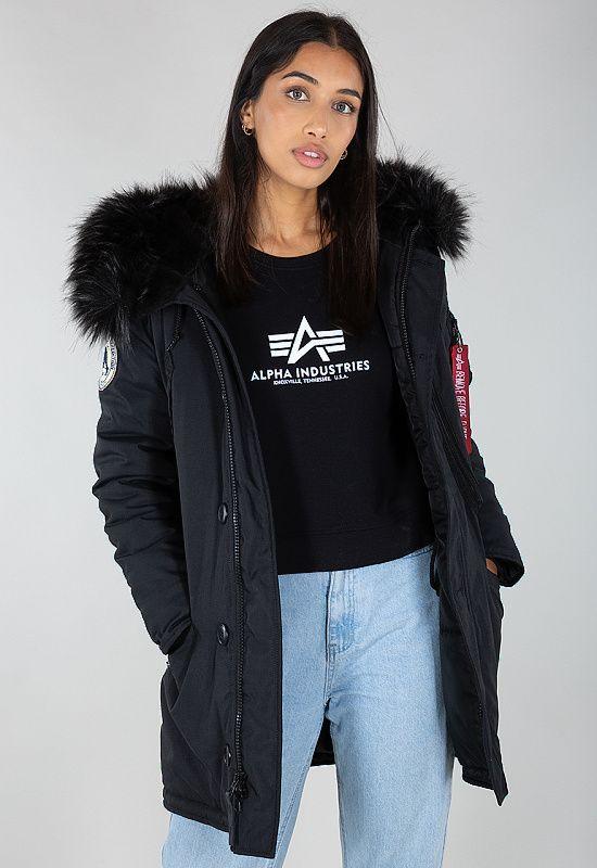 ALPHA INDUSTRIES Dámska bunda Polar Jacket - all black (123002/404)