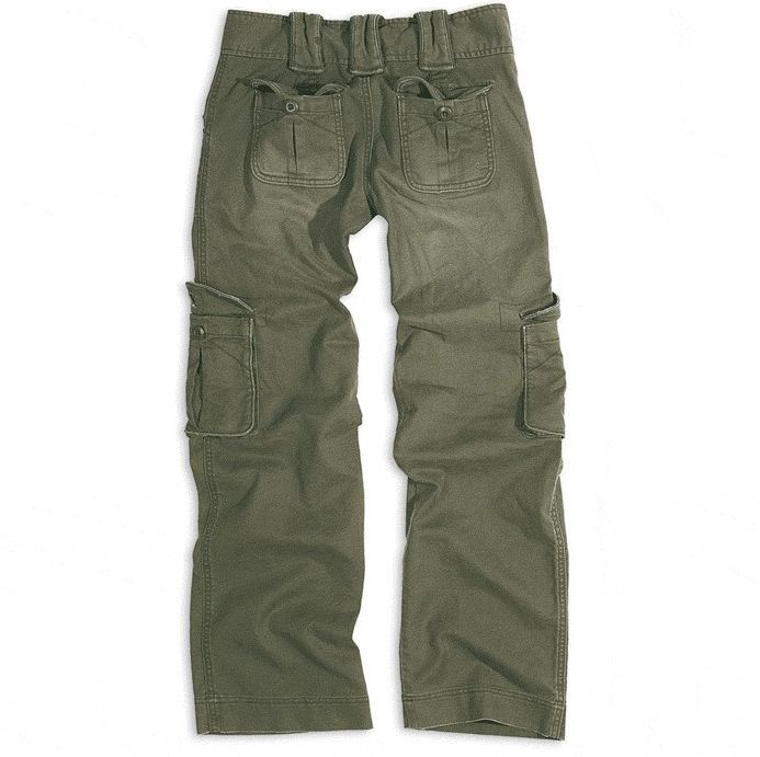 SURPLUS Dámske nohavice Vintage Ladies, olivové, 33-3587-61