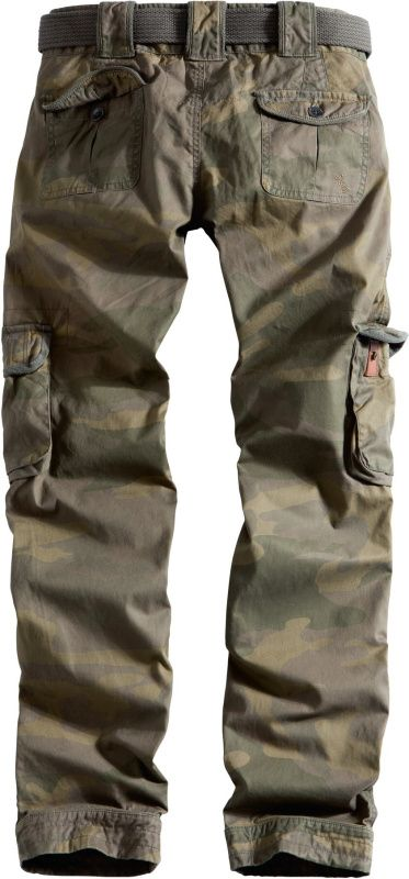 SURPLUS Dámske nohavice Premium Slimmy, prané - woodland, (33-3588-62)