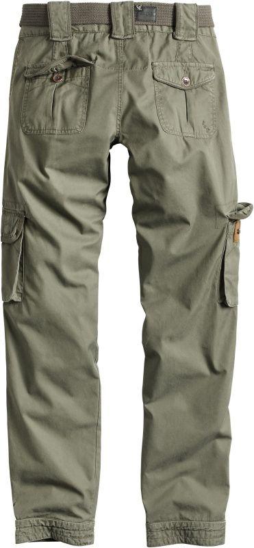SURPLUS Dámske nohavice Premium Slimmy, prané - olivové, (33-3588-61)