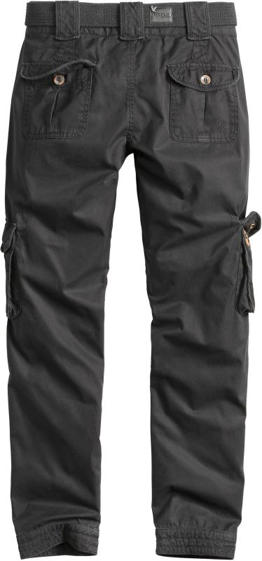 SURPLUS Dámske nohavice Premium Slimmy, prané - čierne, (33-3588-63)