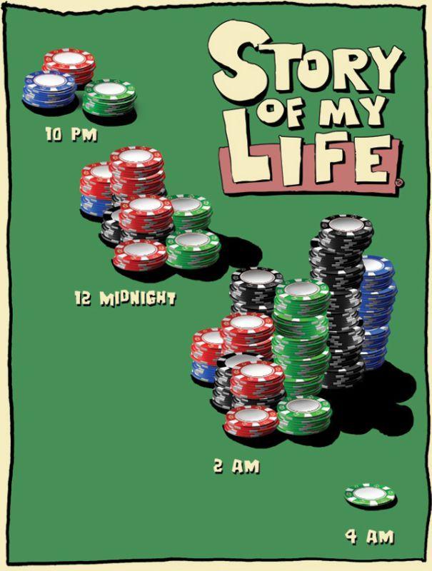 TIN SIGNS Retro plechová ceduľa Story of My Life Poker Night, (TSN1636)